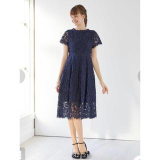 エメ(AIMER)のAIMER ラッセルコードレース袖付きドレス(ミディアムドレス)