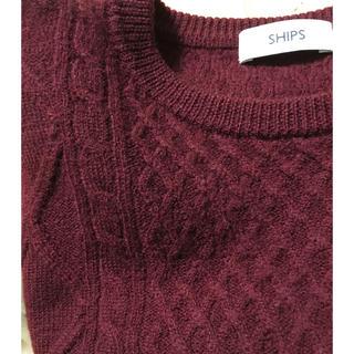 SHIPS - ボルドー色SHIPSメンズセーターM size