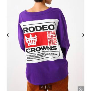 RODEO CROWNS WIDE BOWL - ロデオ★BIG PATCH ロングスリーブTシャツ/パープル