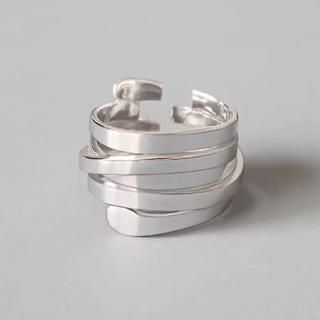 TODAYFUL - シルバーリング 指輪 5連風デザイン ランダムスパイラル  オープンリング 新品