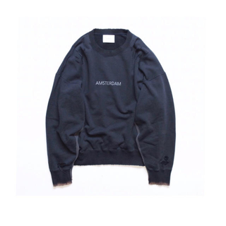 SUNSEA - stein 19AW OVERSIZED REBUILD SWEAT LS