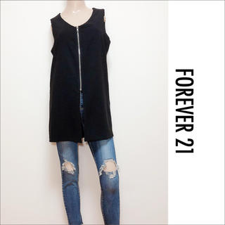 FOREVER 21 - FOREVER 21 ZIP チュニック トップス♡エゴイスト ANAP ザラ