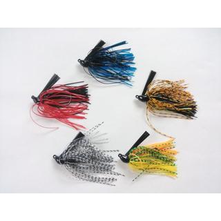 ラバージグ 5色 セット まとめて ジグ ジギング スピナーベイト バス釣り(ルアー用品)