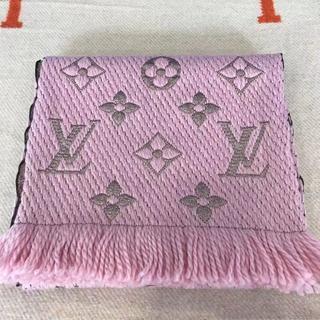 LOUIS VUITTON - ルイヴィトン マフラー エシャルプロゴマニアシャイン ピンク