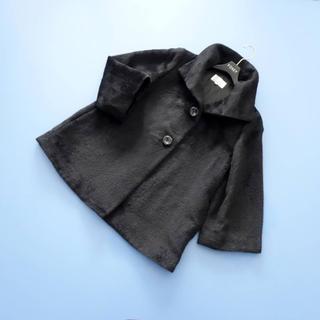 M-premier - ■エムプルミエ■ 38 アルパカシャギー Aラインコート 黒