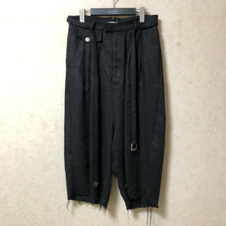 Yohji Yamamoto - BED j.w. FORD 19SS ワイドリネンクロップドパンツ サイズ0