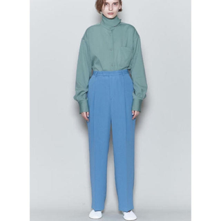 BEAUTY&YOUTH UNITED ARROWS - 6(roku) GEORGETTE HIGH WAIST PANTS