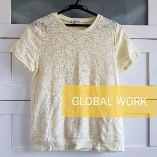 グローバルワーク(GLOBAL WORK)のGLOBAL WORK レース カットソー Tシャツ(Tシャツ(半袖/袖なし))