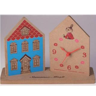 ムーミン×サマンサ モスモス ウッド調がおしゃれなムーミンハウス型 置き時計