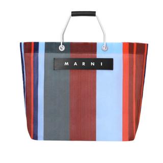 Marni - MARNIマルニ!新品!送料込!マルニフラワーカフェストライプバッグ