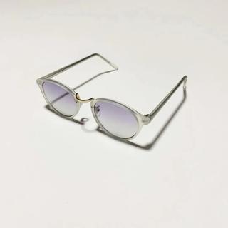 ゾフ(Zoff)のクリアフレーム サングラス パープル zoff ゾフ jins ジンズ 白山眼鏡(サングラス/メガネ)