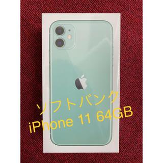 Apple - iPhone 11 64GB SoftBank [グリーン]
