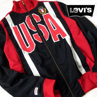 リーバイス(Levi's)の美品 M リーバイス メンズ ジャージ/ジャケット ブラック(ジャージ)