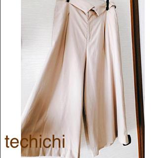 テチチ(Techichi)のtechichi  テチチ ライトベージュ ワイドパンツ L【クリーニング済】(カジュアルパンツ)