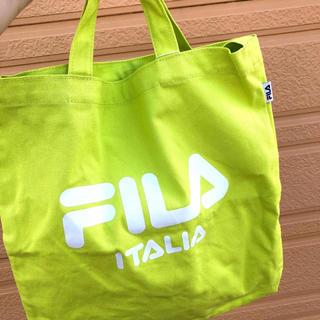 フィラ(FILA)の【新品】FILA フィラ  ネオン 蛍光 トートバッグ ナイロン(トートバッグ)