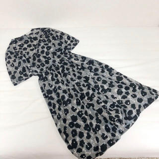 Santa Monica - used  *  black flower one-piece