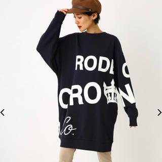RODEO CROWNS WIDE BOWL - ロデオ★ランダム ロゴ スウェットBYワンピース/ネイビー