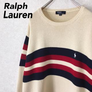 Ralph Lauren - ラルフローレン ニット セーター スウェット ワンポイント ビッグシルエット