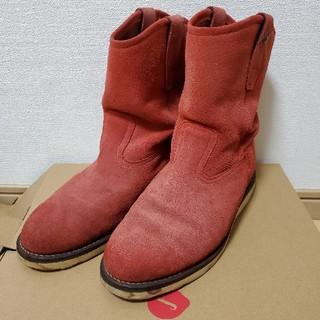 VIBRAMソール使用 ペコスブーツ 赤 サイズ:9(ブーツ)