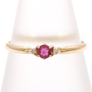 リング K18 ルビー 0.15 ダイヤ 指輪(リング(指輪))