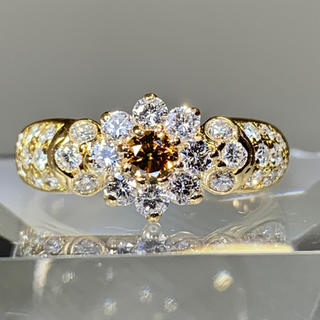 エタニティリング パヴェリング カラーダイヤモンド k18 ダイヤモンドリング(リング(指輪))