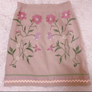 MERCURYDUO - MERCURYDUO マーキュリーデュオ 花柄 刺繍 台形 スカート
