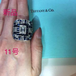 マルタンマルジェラ(Maison Martin Margiela)の11号ユニセックスヴィンテージリング風リングサファイアダイヤモンド印台リング(リング(指輪))