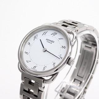 Hermes - 【HERMES】エルメス腕時計 'アルソー ホワイト文字盤' ☆美品☆