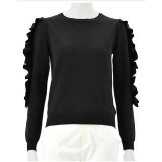 Chesty - chesty 袖フリルニット ブラック