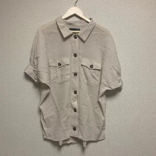 ヘザー(heather)のワッシャーシャツ ベージュ(シャツ/ブラウス(半袖/袖なし))