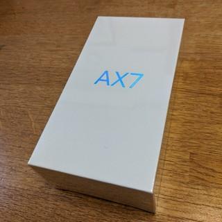 OPPO AX7 SIMフリー 新品未使用 未開封(スマートフォン本体)