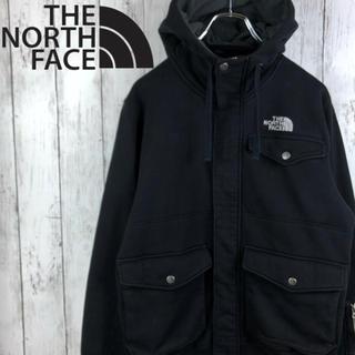 THE NORTH FACE - 【激レア】【90s】【ノースフェイス 】刺繍ロゴ☆ジップパーカー☆黒
