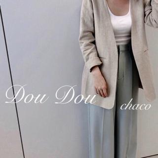 DouDou - 新品¥16200【DouDou】リネンジャケット ノーカラージャケット