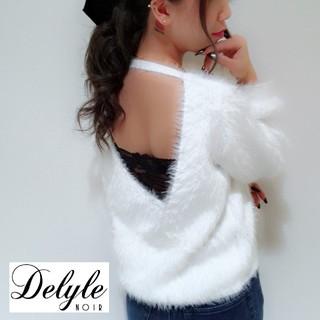Delyle NOIR - 新品タグ付♡デイライル 2wayシャギーニット ホワイト DelyleNoir