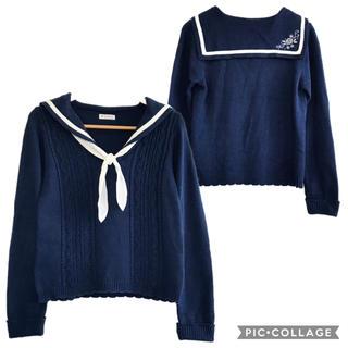 axes femme - 137.セーラーデザインニットセーター