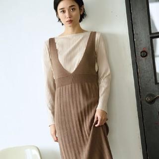 しまむら - 新品* 宮城舞コラボ商品 しまむら リブプルオーバー&ニットジャンパースカート