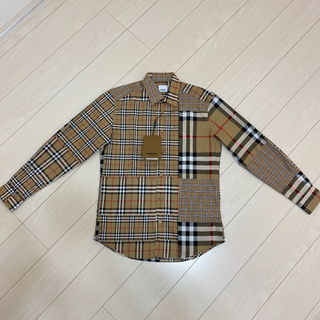 BURBERRY - BURBERRY パッチワークチェックシャツ