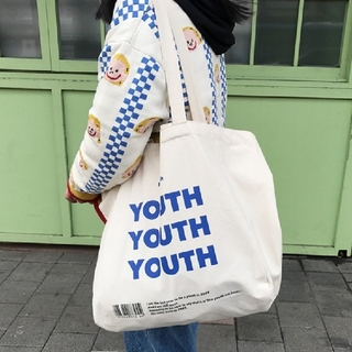 dholic - YOUTHロゴ キャンバス トートバッグ
