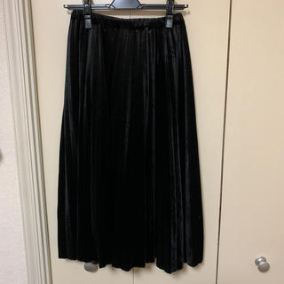 ミスティウーマン(mysty woman)のミスティーウーマン♡ベロアプリーツスカート♡(ロングスカート)