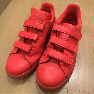 アディダス(adidas)のスタンスミス ベルクロ RED(スニーカー)