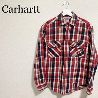カーハート(carhartt)のカーハート ネルシャツ メンズM チェックシャツ 赤 紺 白 黄色(シャツ)