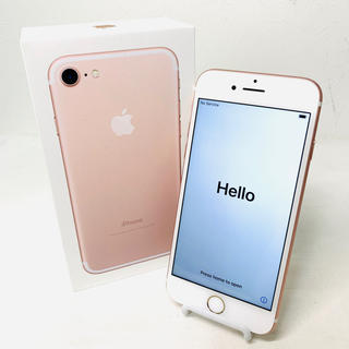 iPhone - 美品 iPhone7 32GB ROSE GOLD バッテリー96% i806