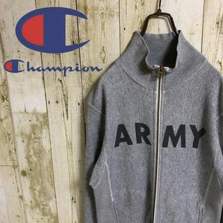 Champion - チャンピオン ARMY プリント リバースウィーブ 刺繍ロゴ ジップ スウェット