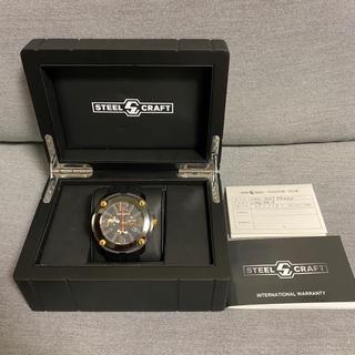 ガガミラノ(GaGa MILANO)のスティールクラフト 腕時計 時計 スイス クロノグラフ メンズ(腕時計(デジタル))
