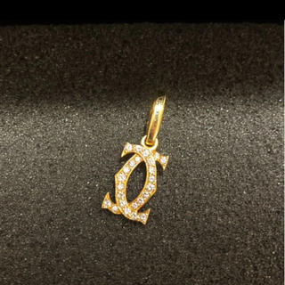 Cartier - 美品 レア カルティエ 2cダイヤチャーム k18YG