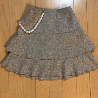 BeBe - 美品 BeBe  wool混ラメ入りツーイドスカート 130 フォーマルにも!
