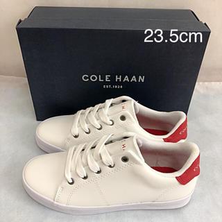 コールハーン(Cole Haan)の未使用 コールハーン スニーカー 赤 23.5cm COLE HAAN(スニーカー)