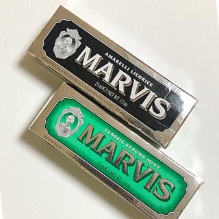 マービス(MARVIS)のMARVIS 2本セット 黒 緑(歯磨き粉)