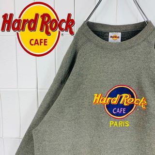 ハードロックカフェ 激レア 刺繍ロゴ デカロゴ ゆるだぼ スウェット トレーナー(スウェット)