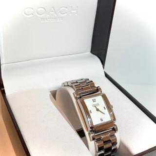 COACH - 【電池有/超美品】コーチ/  シルバー、レディース腕時計